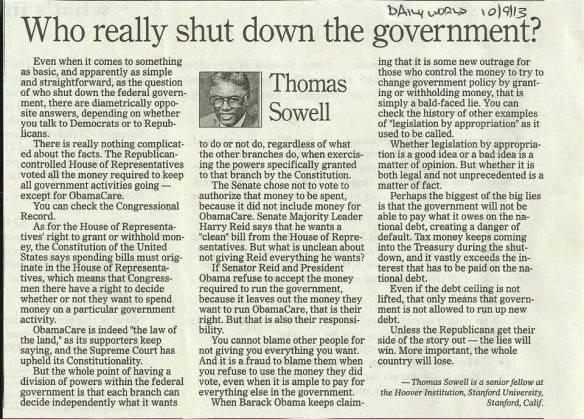 ThomasSowell.DailyWorld.10.9.13